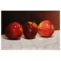 'Color of Passion' (2013) - Realistic Still Life Oil Painting of Apples