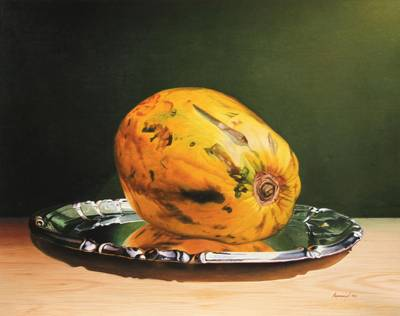 'On a Silver Throne' (2012) - Peruvian Still Life with Papaya