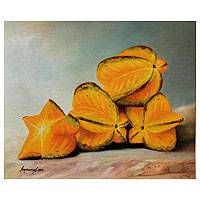 'Fruit From the Jungle' - Hyperreal Still Life with Star Fruit