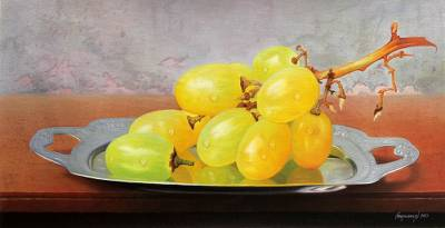 'Provocative Flavor' - Still Life with Grapes