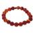Carnelian and ceramic stretch bracelet, 'Peruvian Passion' - Handmade Carnelian Stretch Bracelet (image 2c) thumbail