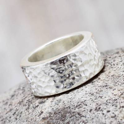 Handcrafted Andean Sterling Silver Band Ring