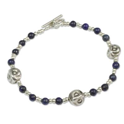 Andes Silver and Lapis Bracelet