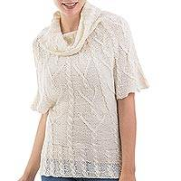 100% alpaca tunic, 'Highland Star' - 100% Alpaca Tunic Top