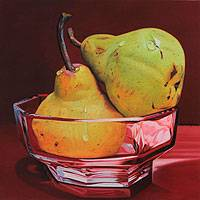 'Red Dawn' - Still Life with Pears
