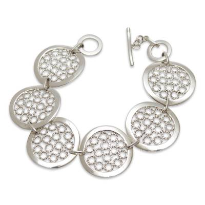 Sterling Silver Link Bracelet from Peru