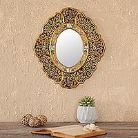 Mirror, 'Garden Gold' - Mirror
