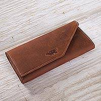Leather wallet Inca Hummingbird Peru