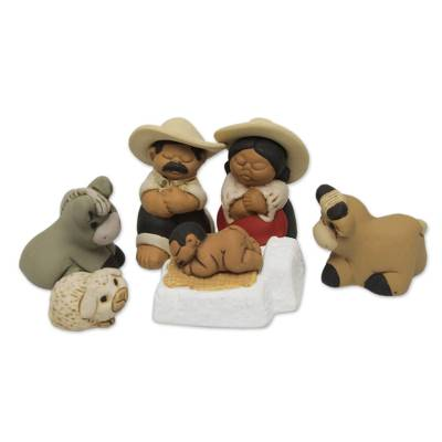 Artisan Crafted Peruvian Nativity Scene Set of 7