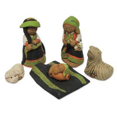 Artisan Crafted Peruvian Nativity Scene Set of 6