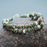 Ceramic beaded bracelet, 'Lachay' - Andean Artisan Crafted Ceramic Bead Bracelet