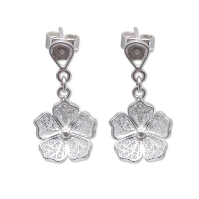 Handmade Andean Sterling Silver Earrings