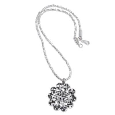 Peruvian Handcrafted Jewelry Sterling Silver Beaded Necklace