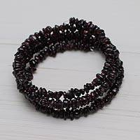 Garnet wrap bracelet,