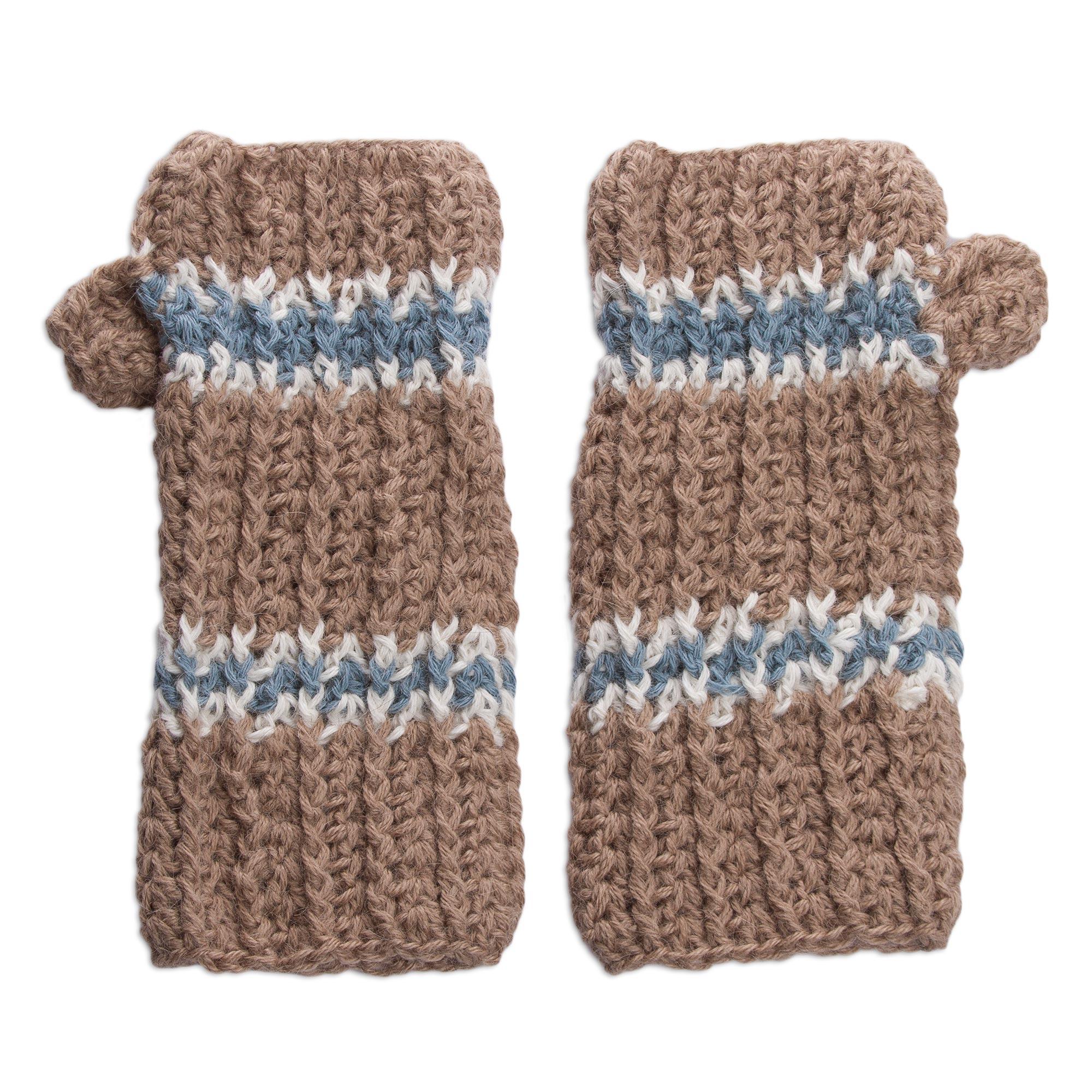 Alpaca Mittens Knitting Pattern : Unicef UK Market Alpaca Mittens Hand Knit Fingerless Gloves from Peru - And...