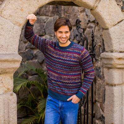Mens 100% alpaca sweater, Colca Canyon