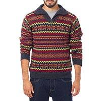 Men's 100% alpaca sweater, 'Earth Tribute'