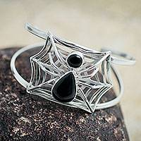 Featured review for Obsidian cuff bracelet, Busy Spider