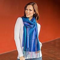 Alpaca and silk scarf,