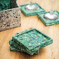 Recycled coasters,