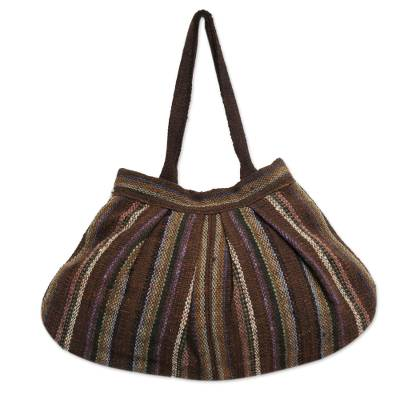 Andean Wool Handwoven Hobo Handbag in Earth Tones