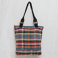Wool tote handbag Color Palette Peru