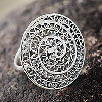 Sterling Silver Cocktail Ring Swirl (peru)