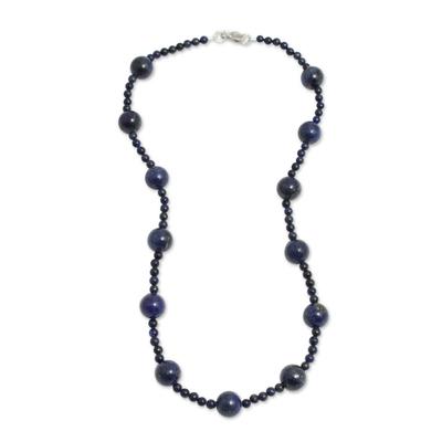 Peruvian Blue Lapis Lazuli Artisan Crafted Beaded Necklace
