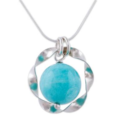Amazonite and Sterling Silver Hand Crafted Necklace