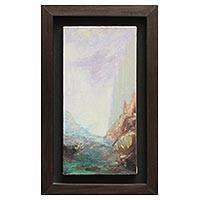 'Path' - Framed Signed Impressionist Painting of Peru