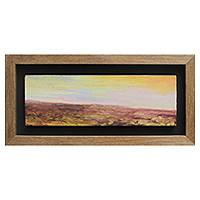 'Desert' - Framed Deset Landscape Oil on Canvas Signed Painting