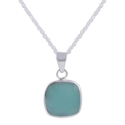 Handcrafted Andean Sterling Silver Necklace with Opal