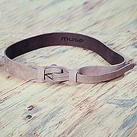 Leather belt,