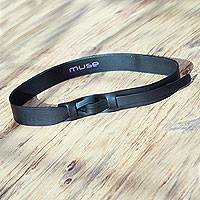 Featured review for Leather belt, Black Qallu