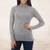 Alpaca blend sweater, 'Zigzag Parallels' - Patterned Grey Alpaca Blend Long Sleeve Turtleneck Sweater thumbail