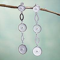 Sterling silver dangle earrings,