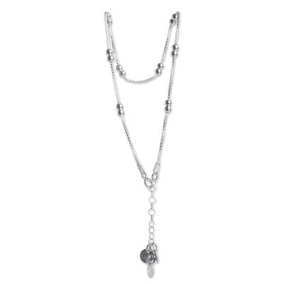 Sterling Silver Anklet with Adjustable Length from Peru