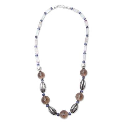 Andes Artisan Crafted Long Gemstone Beaded Necklace