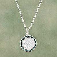 Sterling silver pendant necklace, Tidal Pool