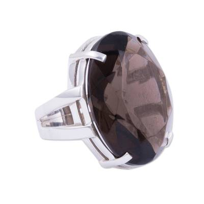 Artisan Crafted Jewelry Smoky Quartz Ring from Peru
