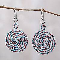 Aluminum dangle earrings,