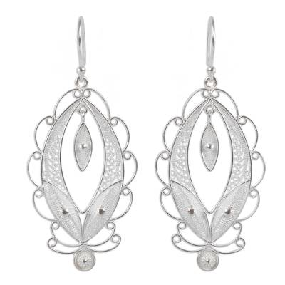 Artisan Crafted Sterling Silver Earrings Filigree Jewelry