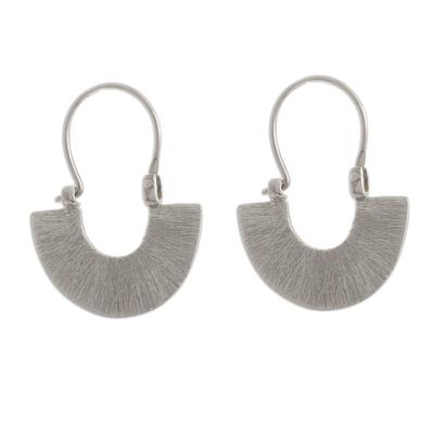 Artisan Jewelry Modern Sterling Silver Hoop Earrings