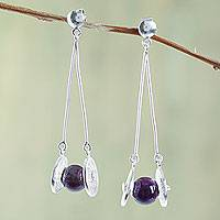 Amethyst filigree earrings,