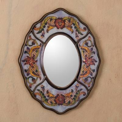 Mirror, White Colonial Wreath