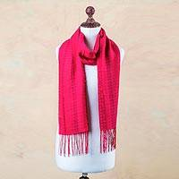 Alpaca and silk scarf,