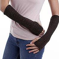 100% alpaca arm warmers,