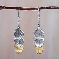 18k gold plate waterfall earrings,