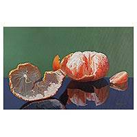 'Fresh Flavor of Nectar' - Original Signed Peruvian Fine Art Painting of Citrus Fruit