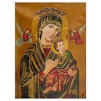 'Byzantine Virgin' - Replica Oil Painting of Our Lady of Perpetual Help from Peru